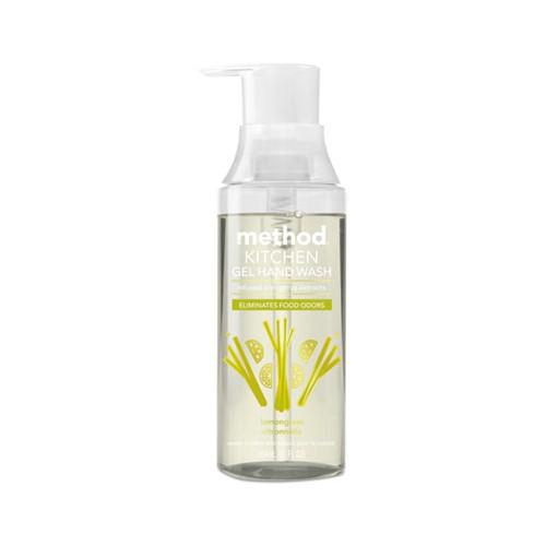 Button to buy gel soap in pump bottles